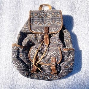 Boho Aztec Tribal Printed Backpack
